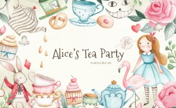 000 Unforgettable Alice In Wonderland Tea Party Template Highest Quality  Templates Invitation Free