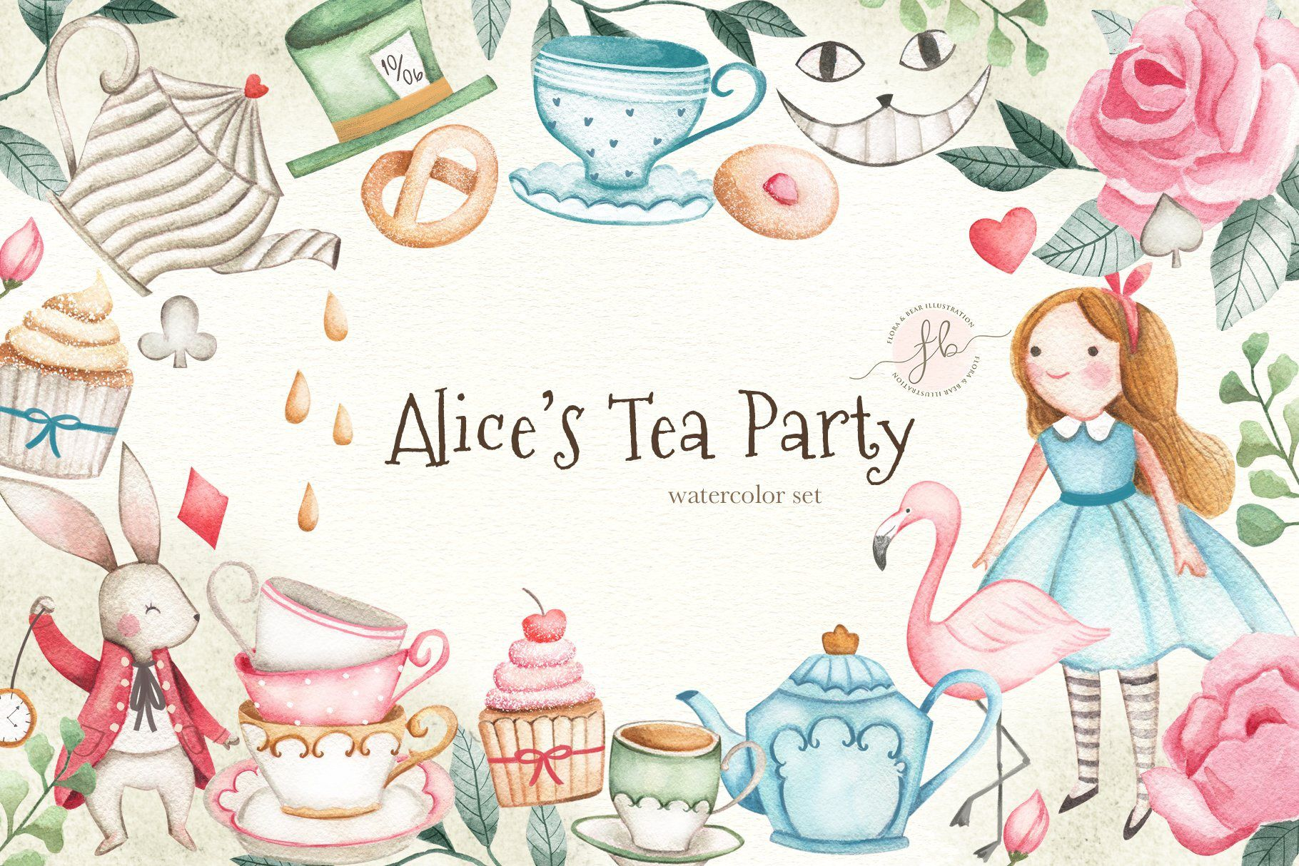 000 Unforgettable Alice In Wonderland Tea Party Template Highest Quality  Templates Invitation FreeFull