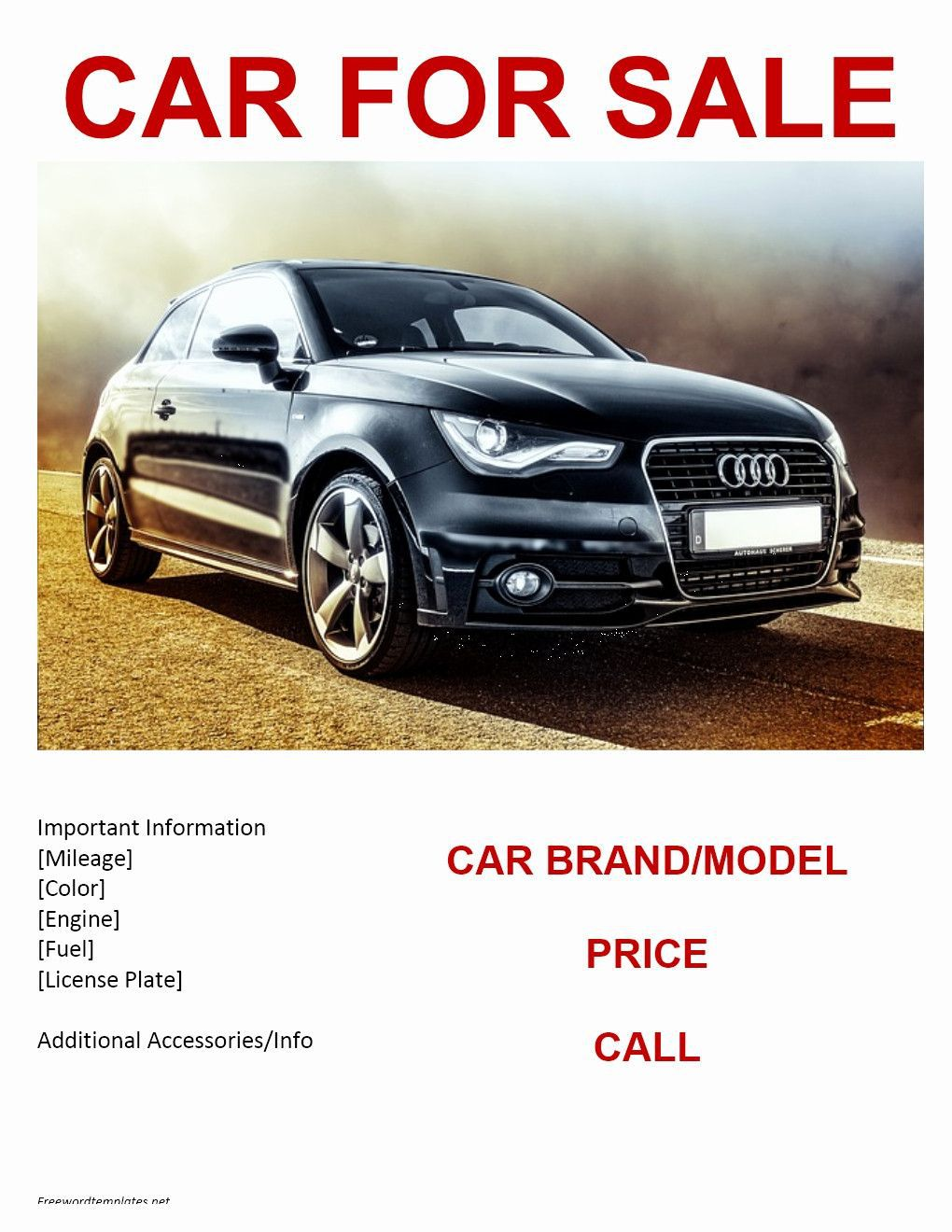 000 Unforgettable Car For Sale Template Photo  Sign Word Bill Of UkFull