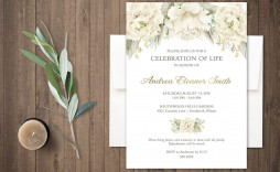 000 Unforgettable Celebration Of Life Announcement Template Free Highest Clarity  Invitation Download Invite