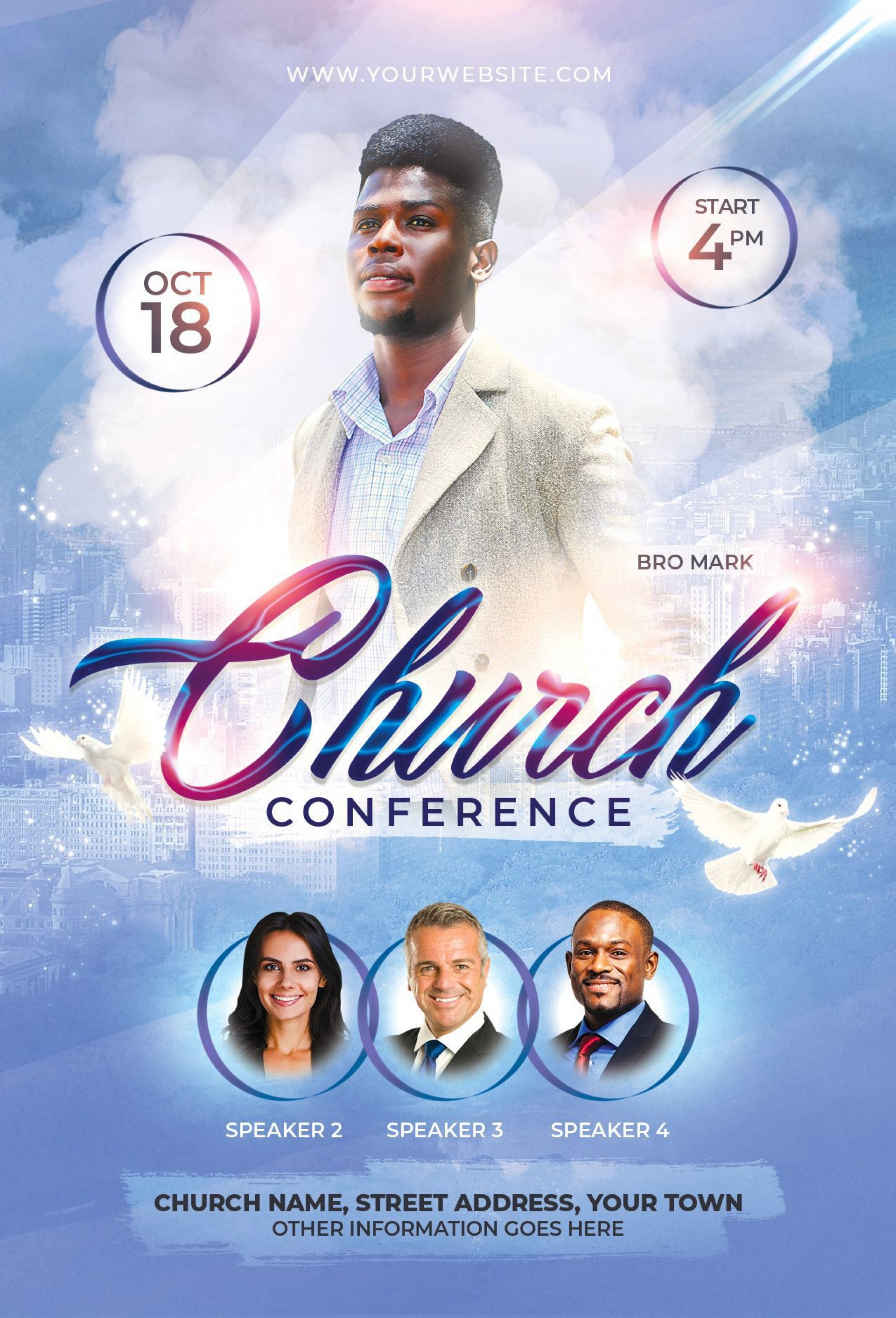 000 Unforgettable Church Flyer Template Free Download Concept  Event Psd1920