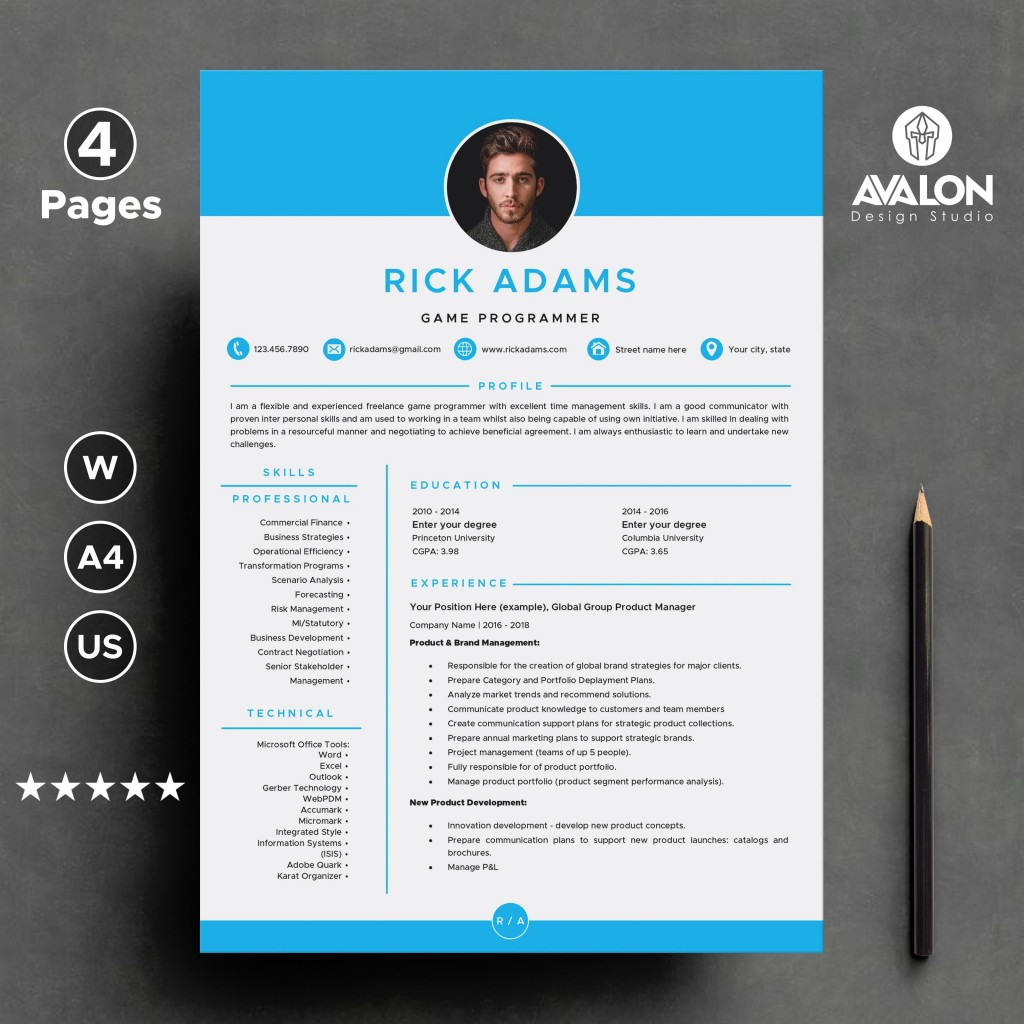 000 Unforgettable Creative Resume Template Word Idea  Professional Free Download Example EditableLarge