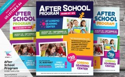 000 Unforgettable Free After School Program Flyer Template Design