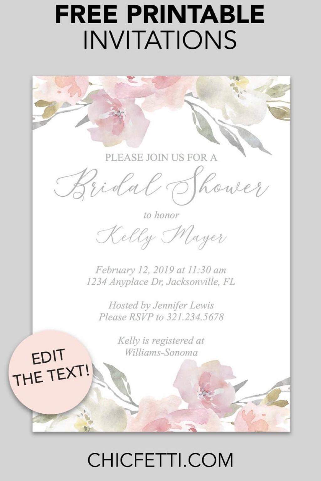 000 Unforgettable Free Bridal Shower Invite Template Sample  Invitation For Word Wedding MicrosoftLarge
