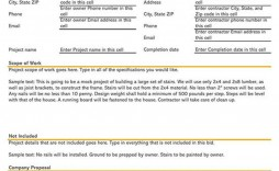 000 Unforgettable Free Construction Proposal Template Example  Bid Contractor Word