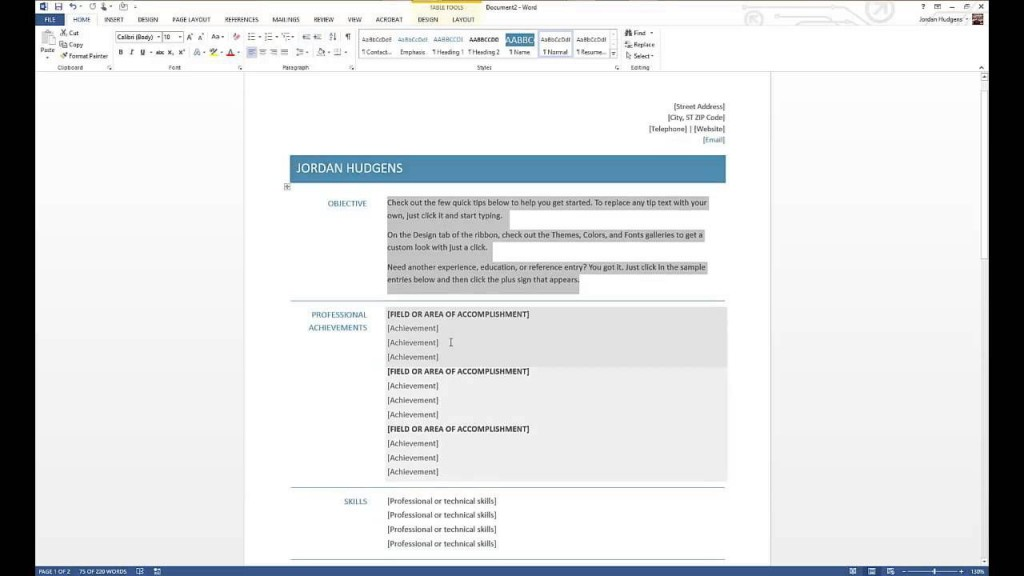 000 Unforgettable How To Create A Resume Template In Microsoft Word Sample  Cv/resume DocxLarge