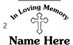 000 Unforgettable In Loving Memory Decal Template Photo  Templates