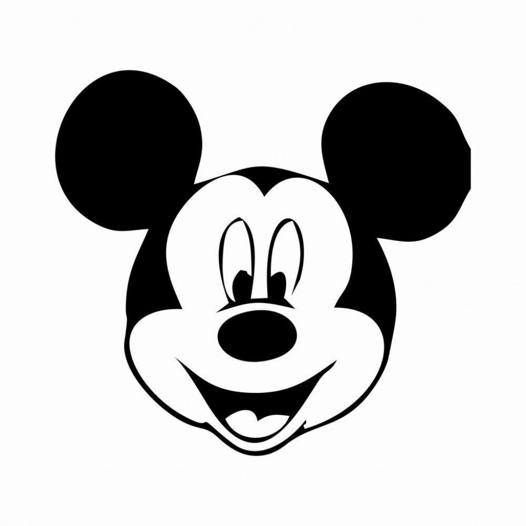 000 Unforgettable Mickey Mouse Face Cake Template Printable Image Large