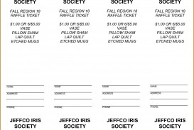 000 Unforgettable Microsoft Word Raffle Ticket Template Picture  2007 2010 8 Per Page