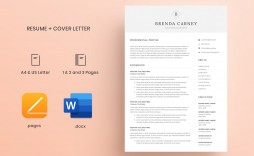 000 Unforgettable Resume Cover Letter Template Docx High Definition