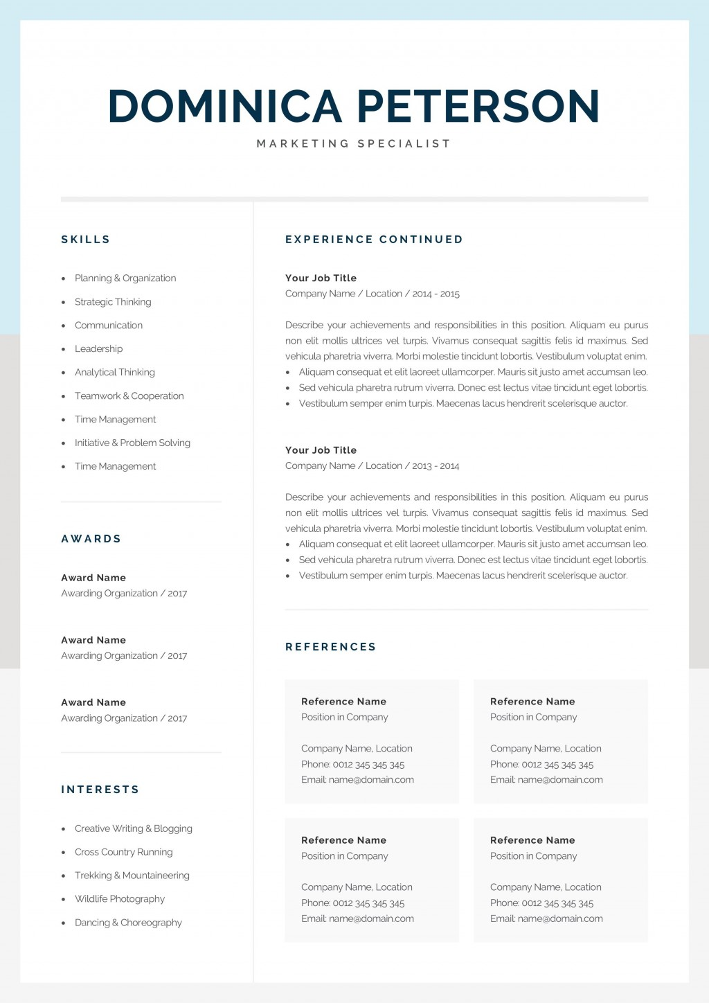 000 Unforgettable Resume Reference Template Microsoft Word Inspiration  ListLarge