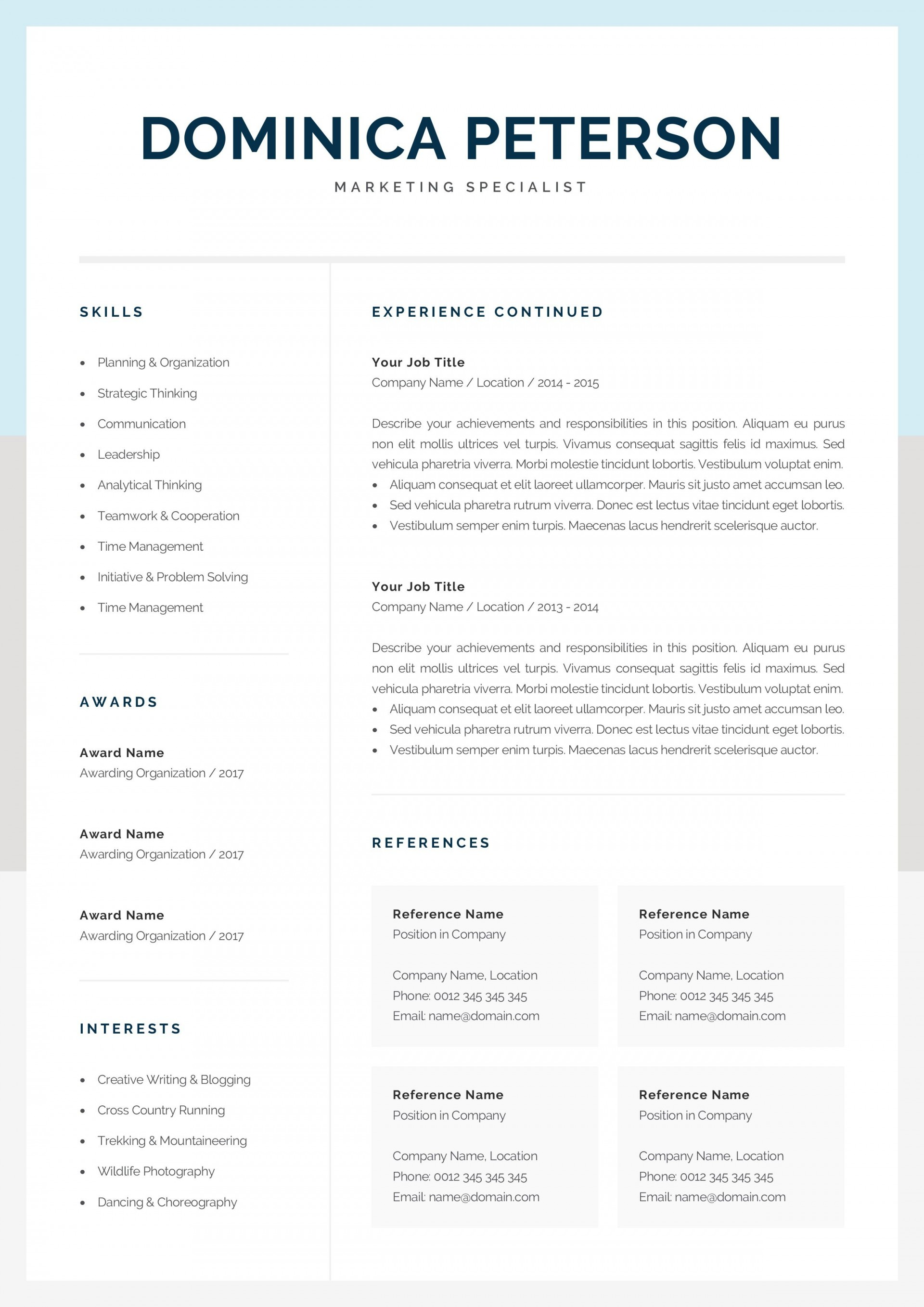 000 Unforgettable Resume Reference Template Microsoft Word Inspiration  List1920