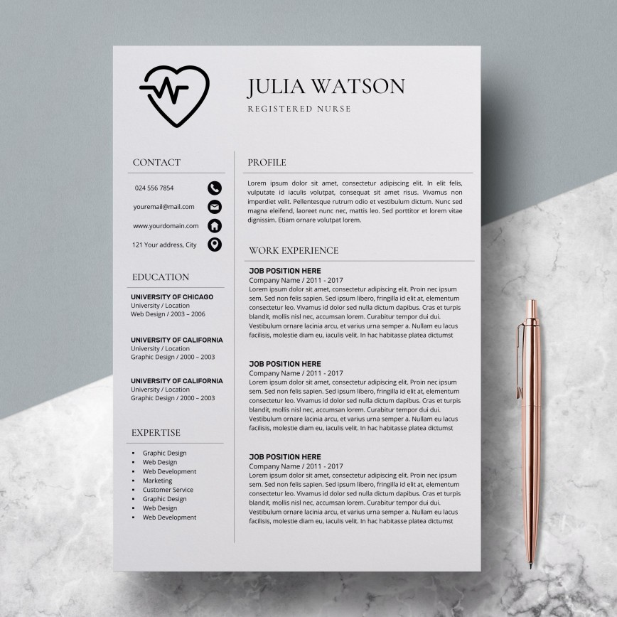 000 Unforgettable Resume Template For Nurse Design  Sample Nursing Assistant With No Experience Rn' Free868