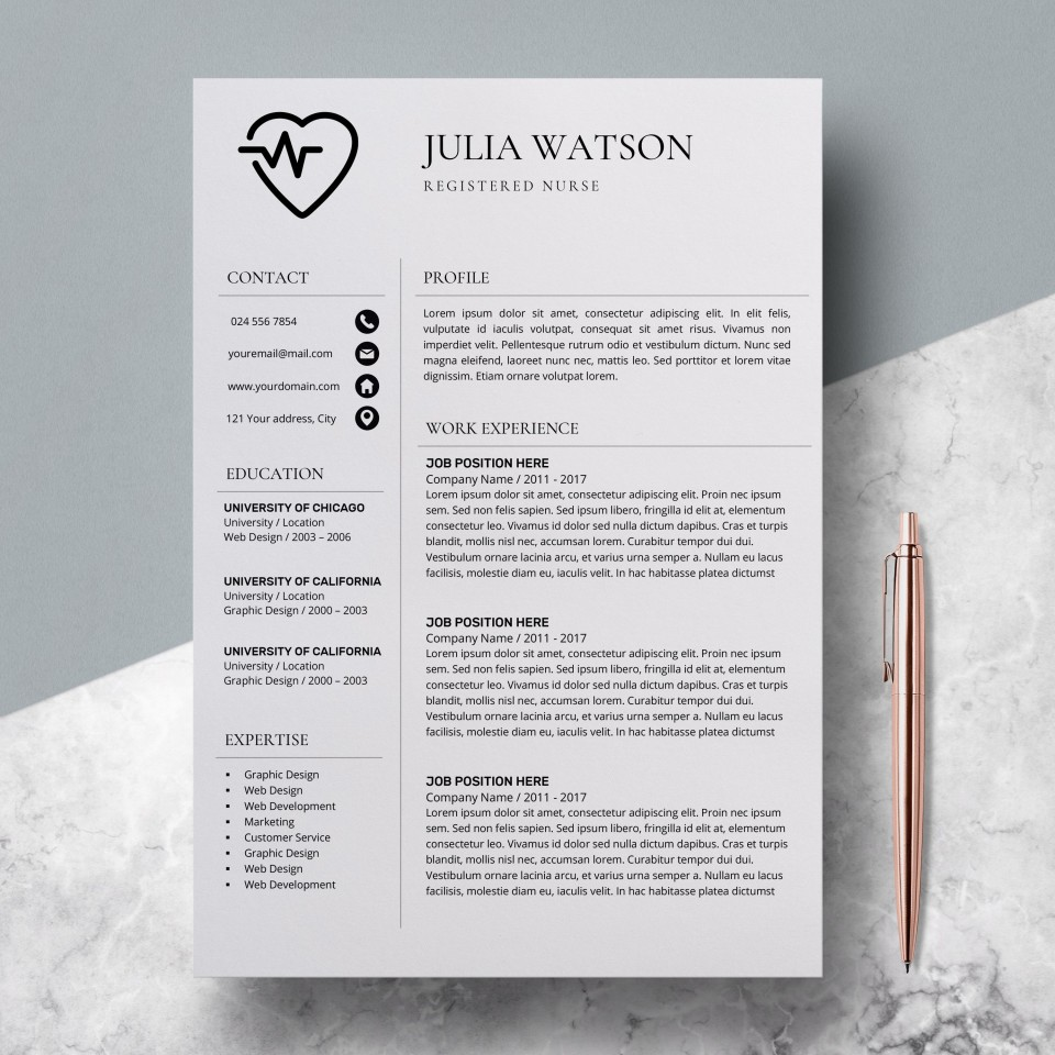 000 Unforgettable Resume Template For Nurse Design  Sample Nursing Assistant With No Experience Rn' Free960