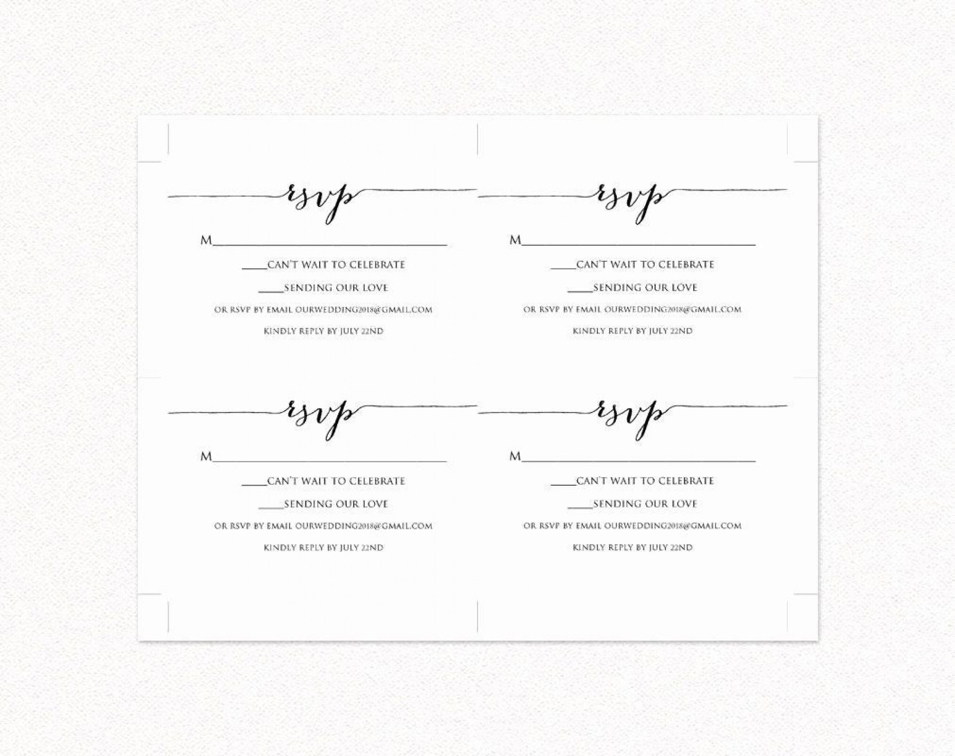 000 Unforgettable Rsvp Postcard Template For Word High Resolution 1920