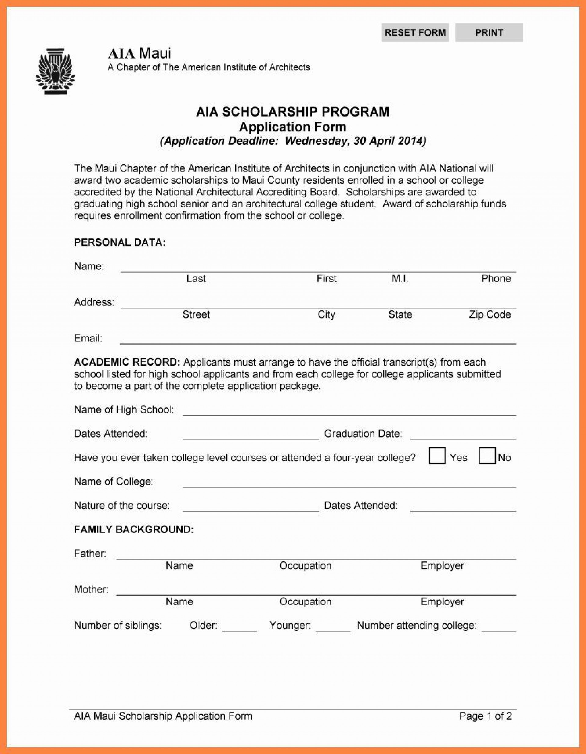 000 Unforgettable Scholarship Application Template Word High Resolution  College Letter Sample1920