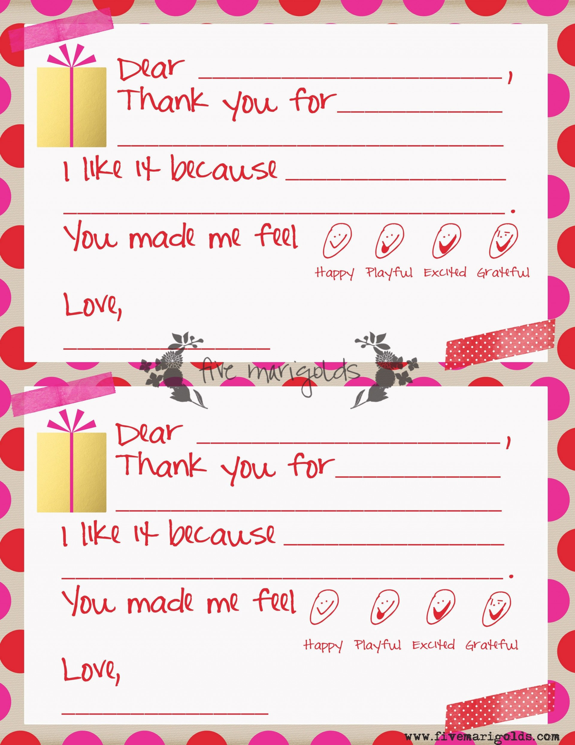 000 Unforgettable Thank You Note Template For Kid Highest Clarity  Kids Child Pdf Letter1920