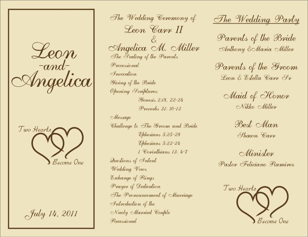 000 Unforgettable Trifold Wedding Program Template Concept  Tri Fold Word Folded ExampleLarge