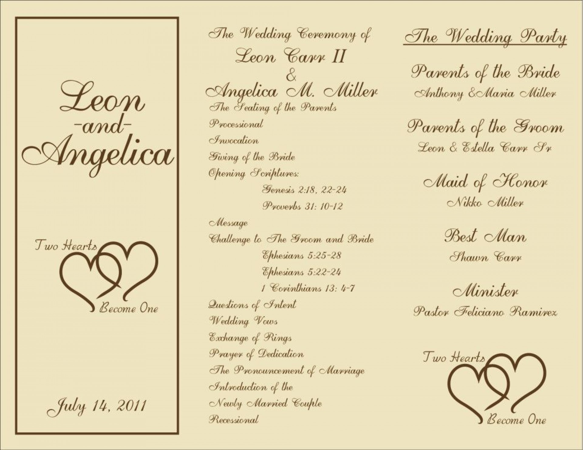 000 Unforgettable Trifold Wedding Program Template Concept  Tri Fold Word Folded Example1920