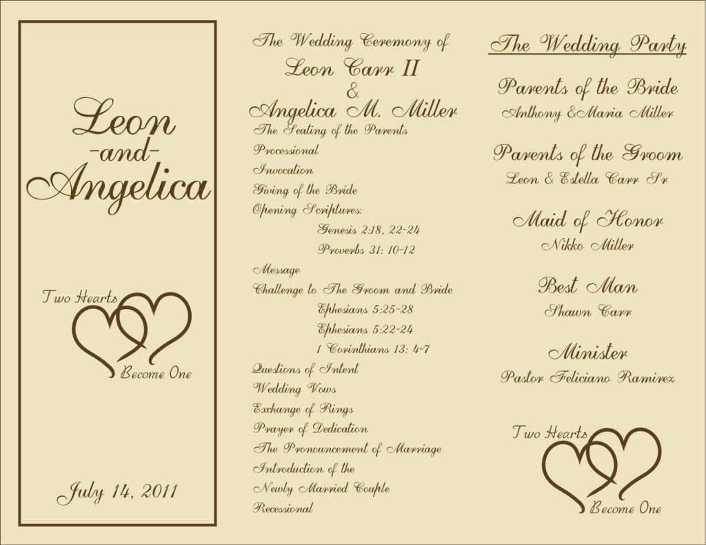 000 Unforgettable Trifold Wedding Program Template Concept  Tri Fold Word Folded ExampleFull