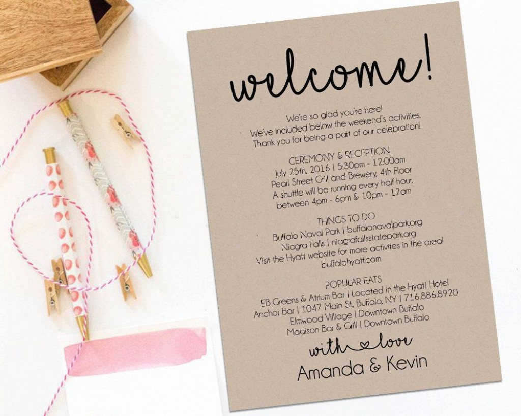 000 Unforgettable Wedding Guest Welcome Letter Template Picture Large