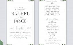 000 Unforgettable Wedding Order Of Service Template Photo  Pdf Publisher Microsoft Word