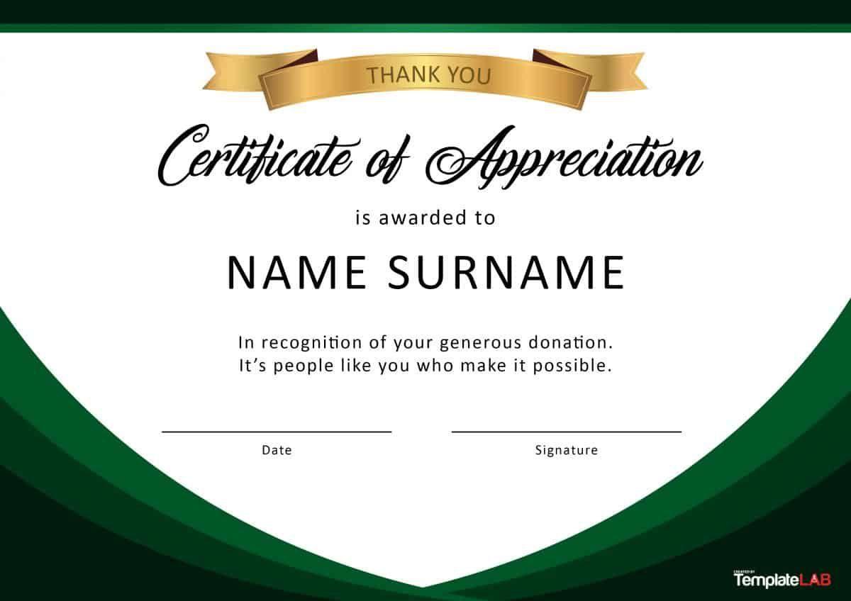 000 Unique Certificate Of Appreciation Template Free Idea  Microsoft Word Download Publisher EditableFull