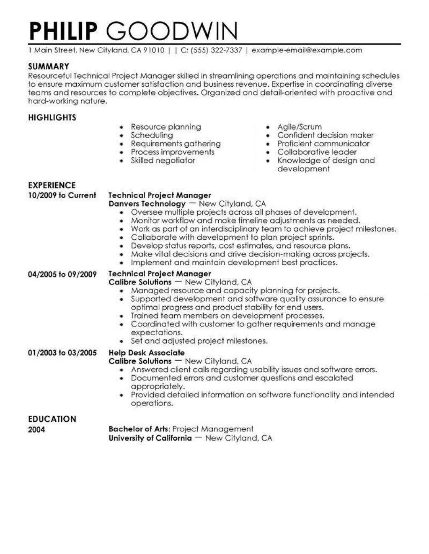 Student Resume Highlights