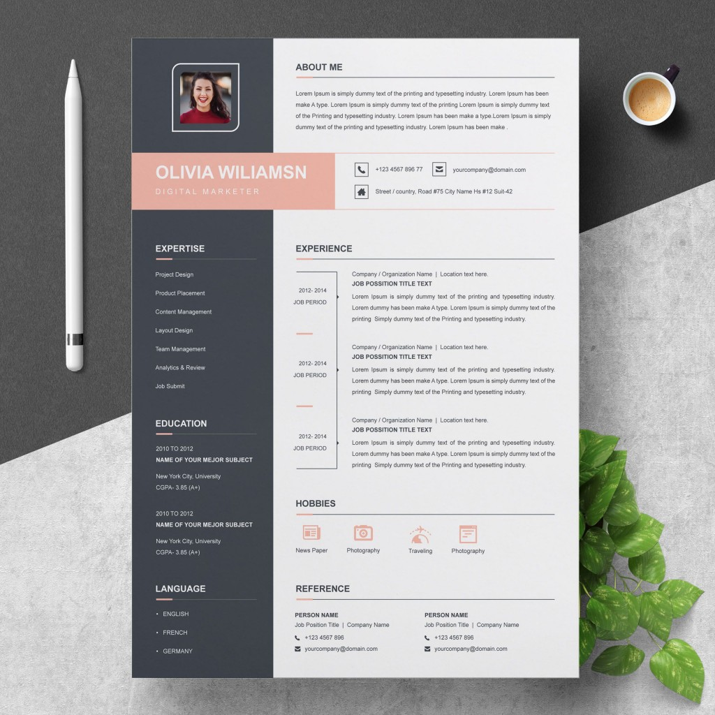 000 Unique Cool Resume Template For Word Free Inspiration  Download Doc Best Format 2018Large