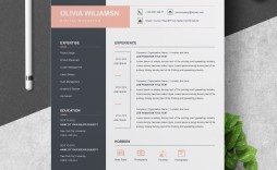 000 Unique Cool Resume Template For Word Free Inspiration  Download Doc Best Format 2018