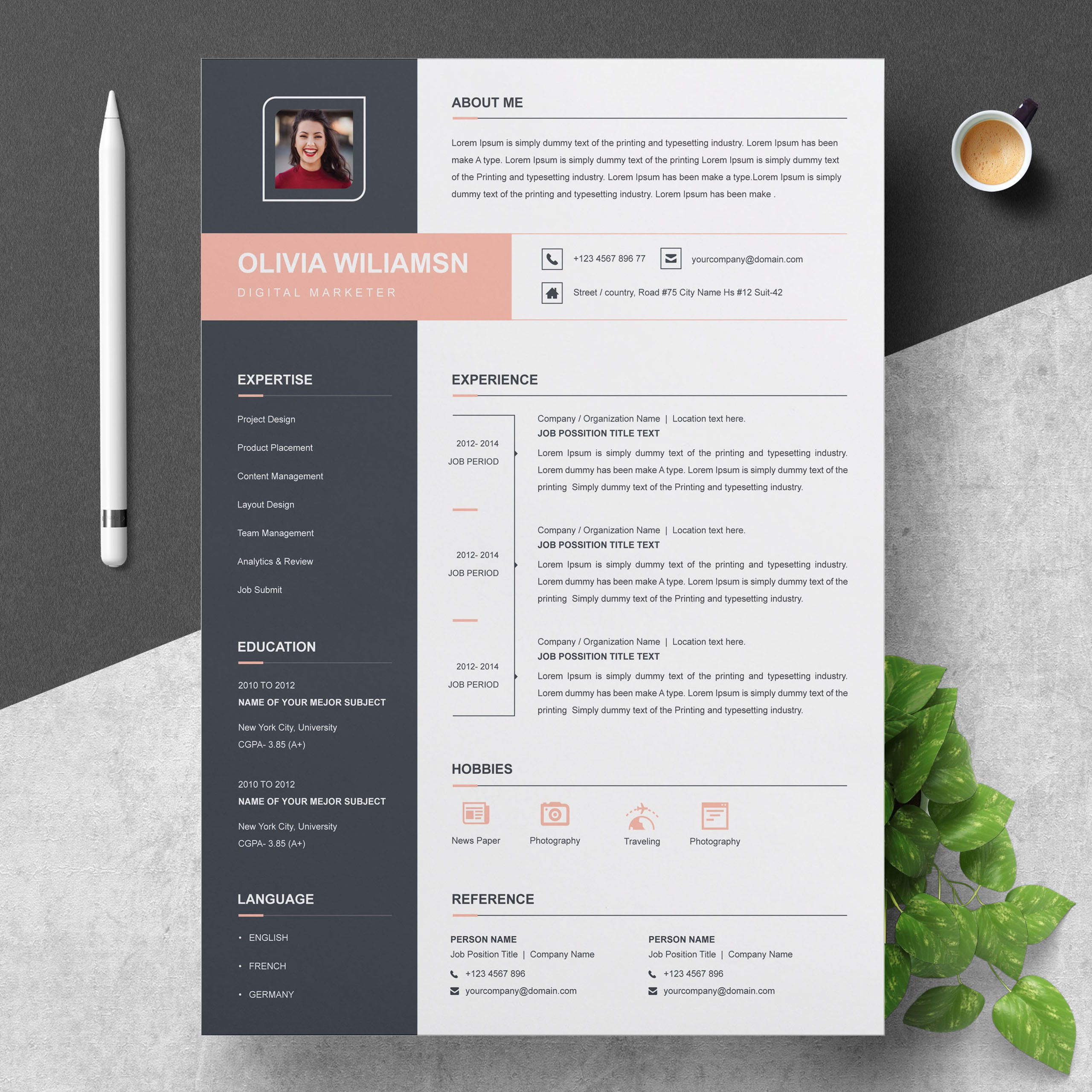 000 Unique Cool Resume Template For Word Free Inspiration  Download Doc Best Format 2018Full