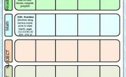 000 Unique Editable Lesson Plan Template Kindergarten Sample  Free