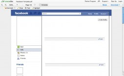 000 Unique Fake Facebook Page Template Picture  Busines Microsoft Word Create A