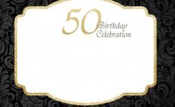 000 Unique Free 50th Anniversary Invitation Template For Word Sample