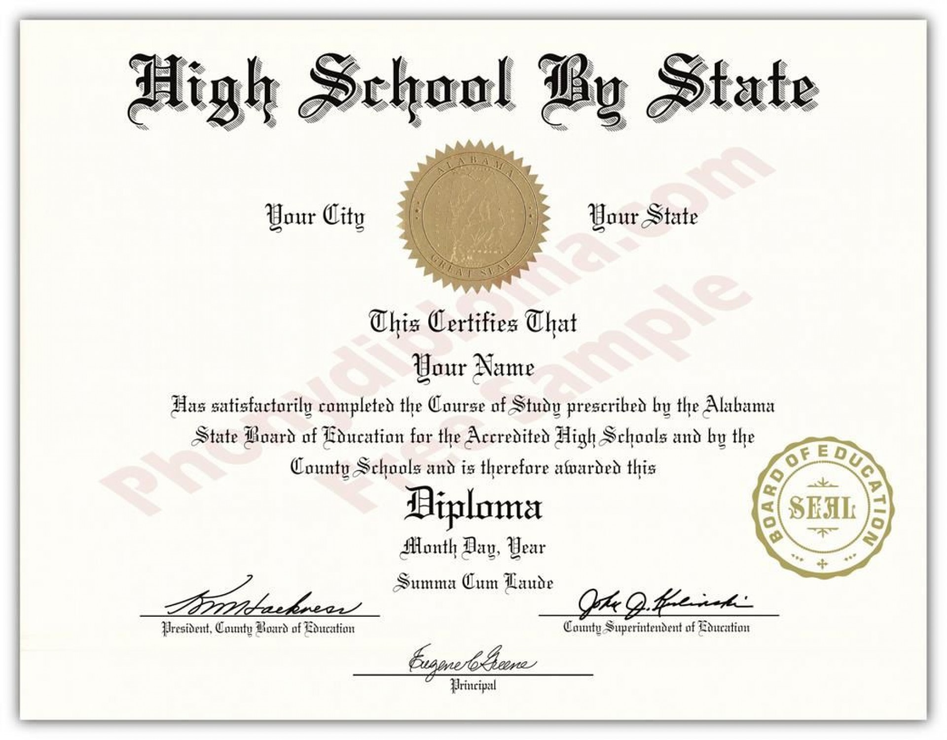 000 Unique Free High School Diploma Template Pdf Example 1920