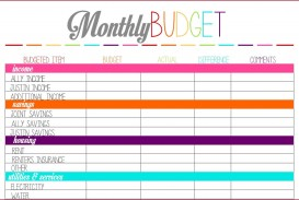000 Unique Free Monthly Budget Template High Def  Household Excel Expense Report Download