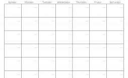 000 Unique Free Printable Blank Monthly Calendar Template Idea  Templates