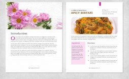 000 Unique Free Recipe Book Template High Def  Editable Cookbook For Microsoft Word Indesign