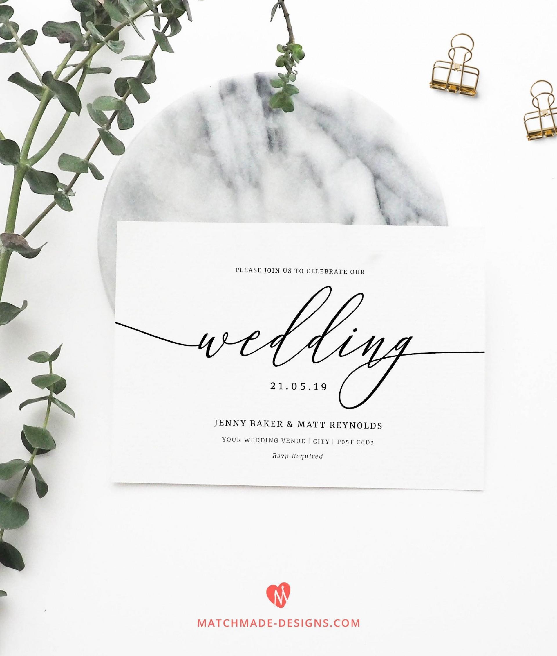 Free Wedding Invitation Template Download Addictionary
