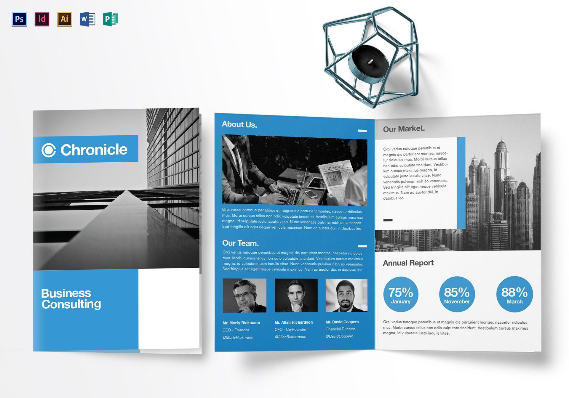 000 Unique Half Fold Brochure Template Concept  Free Microsoft Word IndesignFull
