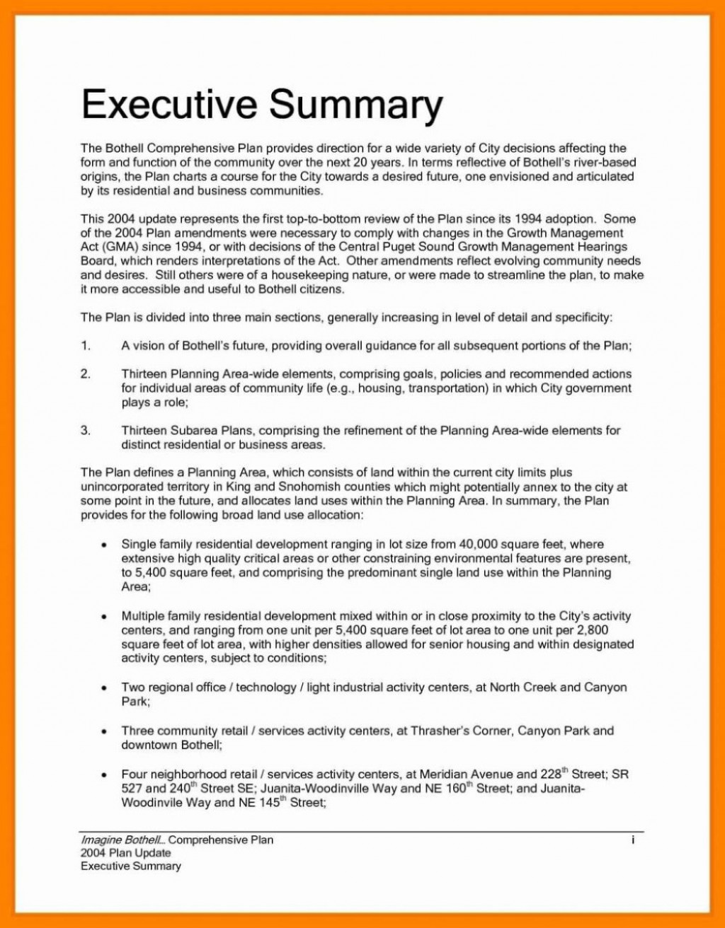 000 Unique Project Executive Summary Template Picture  Example Ppt Proposal DocLarge
