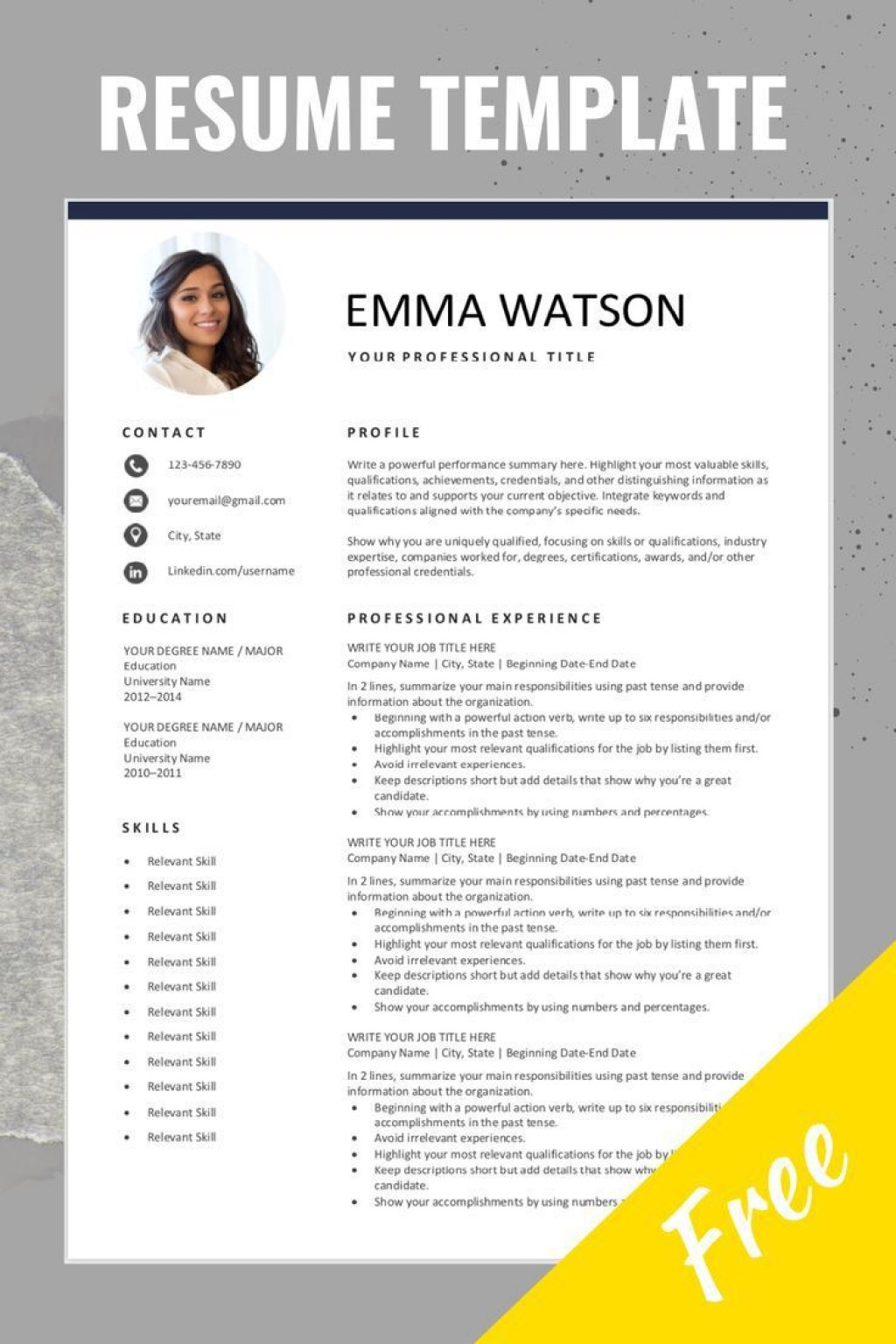 000 Unique Resume Template Word Download Sample  For Fresher In Format Free 2020Large