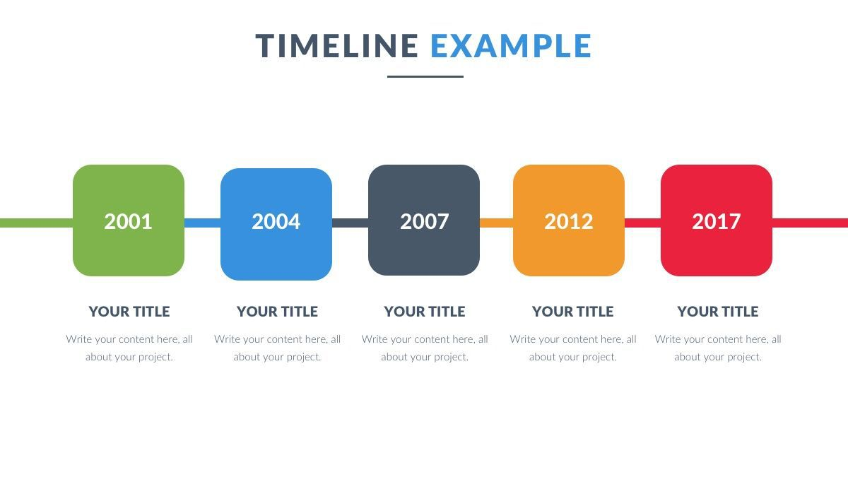 000 Unique Timeline Example Presentation Image  Project Slide TemplateFull