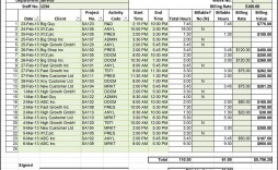 000 Unusual Billable Hour Template Excel Free Photo