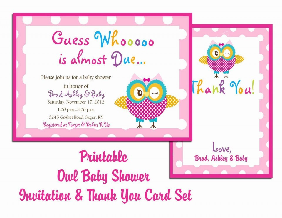 000 Unusual Free Baby Shower Card Template For Word High Def 960
