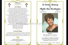 000 Unusual Free Printable Celebration Of Life Program Template Photo