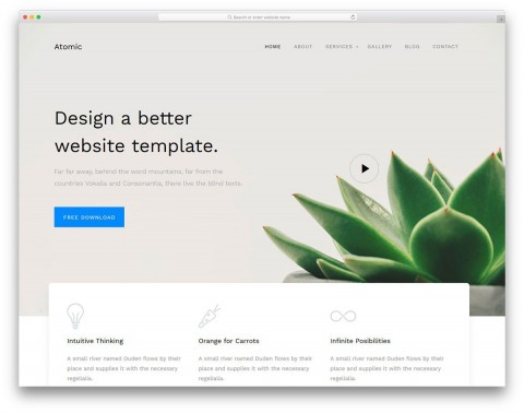 000 Unusual Free Simple Web Page Template Design  Html One Website Download With Cs480
