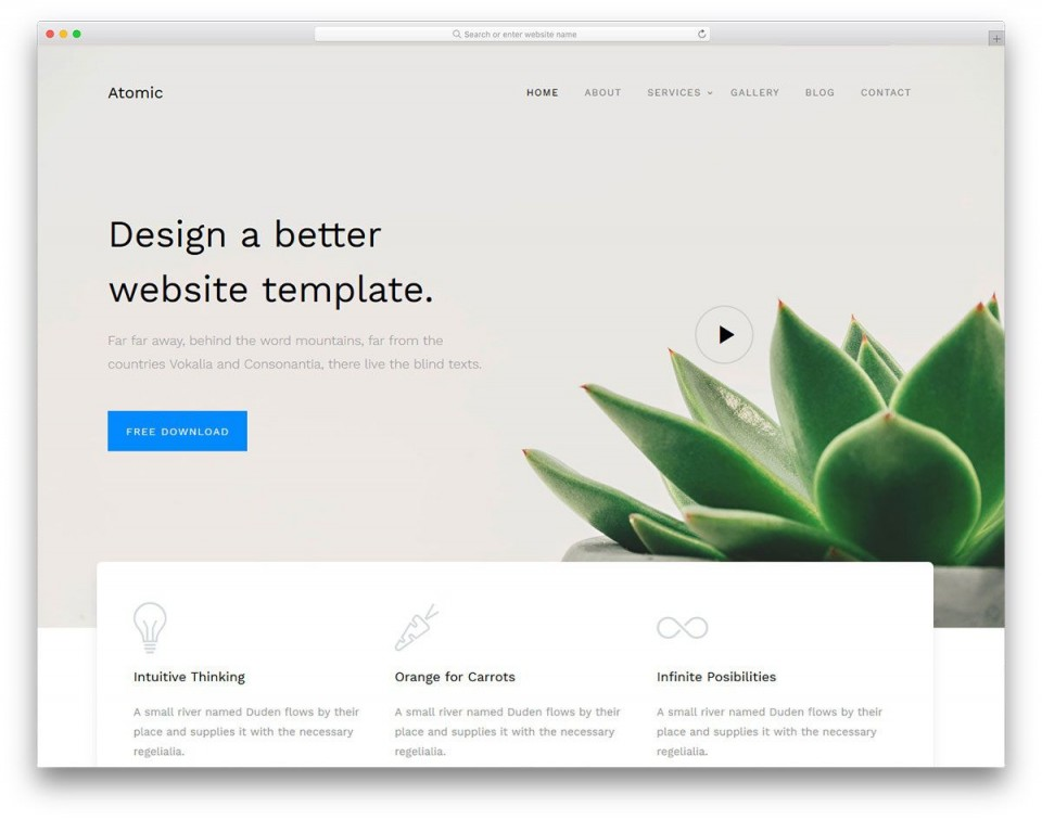 000 Unusual Free Simple Web Page Template Design  Html One Website Download With Cs960