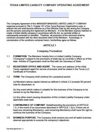 000 Unusual Llc Partnership Agreement Template Photo  Free Operating320