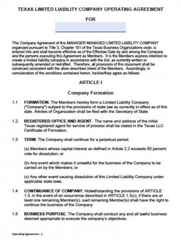000 Unusual Llc Partnership Agreement Template Photo  Free Operating360